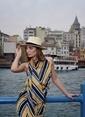 Laslusa İçten Ayarlanabilir Hasır Panama Fötr Şapka Bej